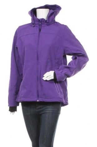 Дамско спортно яке Janina, Размер XL, Цвят Лилав, 95% полиестер, 5% еластан, Цена 46,20лв.