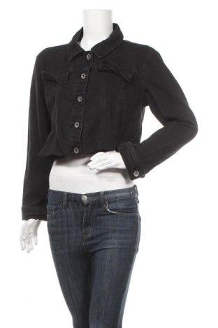 Дамско яке, Размер L, Цвят Черен, 76% памук, 23% полиестер, 1% еластан, Цена 23,68лв.