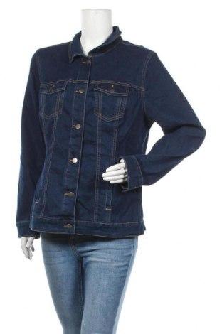Дамско яке, Размер L, Цвят Син, 81% памук, 17% полиестер, 2% еластан, Цена 22,68лв.
