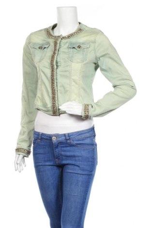 Дамско яке, Размер L, Цвят Зелен, 95% памук, 5% еластан, Цена 10,76лв.