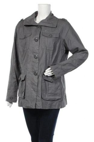 Дамско яке, Размер XL, Цвят Сив, 55% лен, 45% памук, Цена 8,40лв.