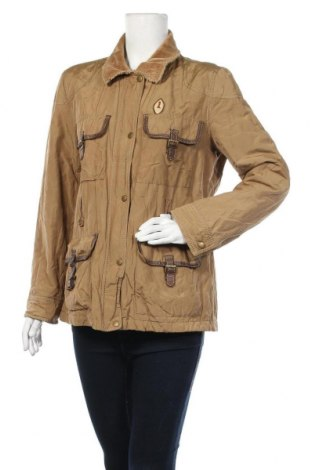 Дамско яке, Размер M, Цвят Кафяв, 47% памук, 46% полиестер, 7% метални нишки, Цена 2,00лв.