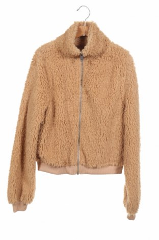 Дамско яке Gina Tricot, Размер XS, Цвят Бежов, Полиестер, Цена 23,52лв.