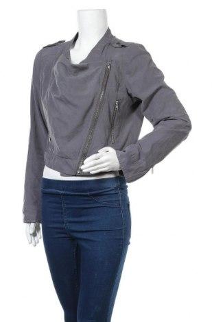 Дамско яке Gina Tricot, Размер L, Цвят Сив, 80% полиестер, 20% полиамид, Цена 9,18лв.