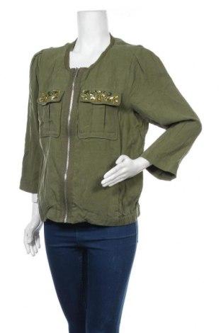 Дамско яке H&M, Размер XL, Цвят Зелен, Лиосел, Цена 24,57лв.