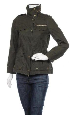 Дамско яке H&M, Размер XS, Цвят Зелен, Памук, Цена 7,14лв.