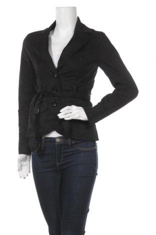 Дамско яке H&M, Размер S, Цвят Черен, 97% памук, 3% еластан, Цена 9,42лв.