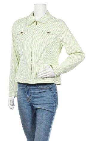 Дамско яке Jones New York, Размер L, Цвят Зелен, 72% памук, 24% полиамид, 4% еластан, Цена 61,43лв.