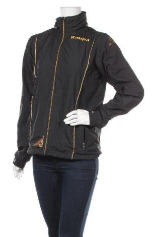 Дамско спортно яке Kappa, Размер M, Цвят Черен, Полиестер, Цена 24,57лв.