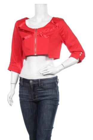 Дамско яке La Mode Est A Vous, Размер L, Цвят Червен, 67% памук, 30% полиестер, 3% еластан, Цена 15,87лв.