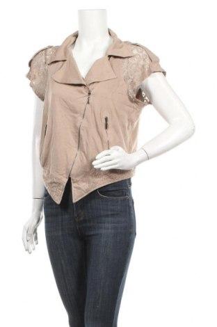Дамско яке Lauren Vidal, Размер XL, Цвят Бежов, 50% вискоза, 50% полиестер, Цена 34,65лв.