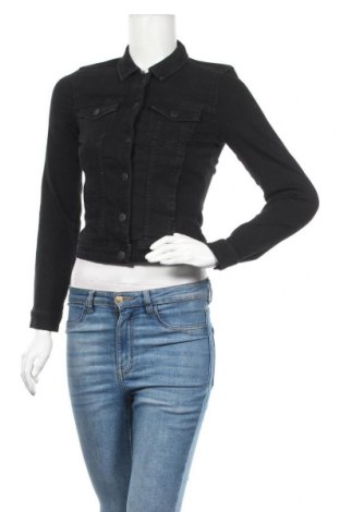 Дамско яке ONLY, Размер XS, Цвят Черен, 75% памук, 24% полиестер, 1% еластан, Цена 51,75лв.