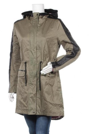 Γυναικείο μπουφάν Sisley, Μέγεθος M, Χρώμα Πράσινο, 98% βαμβάκι, 2% ελαστάνη, δερματίνη, Τιμή 22,80€