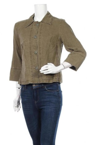 Γυναικείο μπουφάν Vittoria Verani, Μέγεθος L, Χρώμα Πράσινο, 51% λινό, 49% lyocell, Τιμή 7,05€