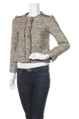 Дамско яке Zara, Размер XS, Цвят Екрю, 55% памук, 27% полиестер, 7% полиамид, 5% акрил, 5% метални нишки, 1% други материали, Цена 25,94лв.