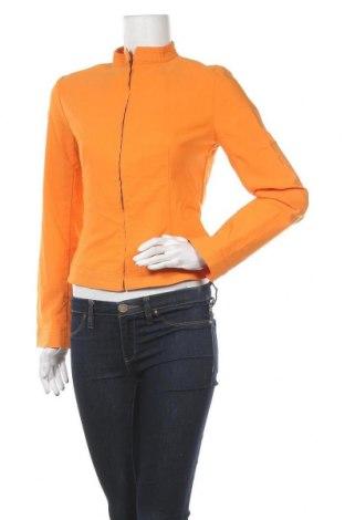 Дамско яке Zara, Размер M, Цвят Оранжев, 74% вискоза, 23% полиамид, 3% еластан, Цена 23,94лв.