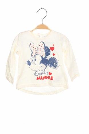Παιδική μπλούζα Disney, Μέγεθος 9-12m/ 74-80 εκ., Χρώμα Εκρού, Βαμβάκι, Τιμή 7,89€