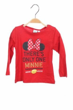 Παιδική μπλούζα Disney, Μέγεθος 12-18m/ 80-86 εκ., Χρώμα Κόκκινο, Βαμβάκι, Τιμή 7,89€