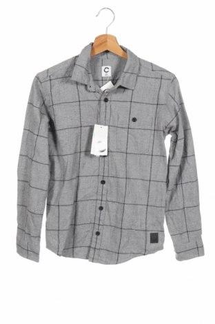 Παιδικό πουκάμισο Cubus, Μέγεθος 11-12y/ 152-158 εκ., Χρώμα Γκρί, Βαμβάκι, Τιμή 7,50€