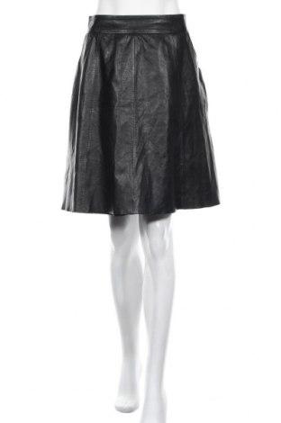 Δερμάτινη φούστα Hallhuber, Μέγεθος L, Χρώμα Μαύρο, Γνήσιο δέρμα, Τιμή 38,00€