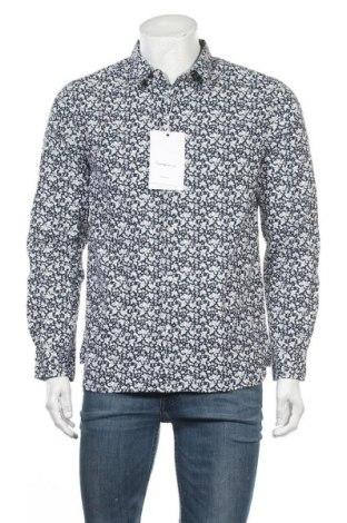 Ανδρικό πουκάμισο Knowledge Cotton Apparel, Μέγεθος L, Χρώμα Μπλέ, Βαμβάκι, Τιμή 36,86€