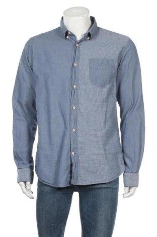 Ανδρικό πουκάμισο Knowledge Cotton Apparel, Μέγεθος XL, Χρώμα Μπλέ, Βαμβάκι, Τιμή 13,64€