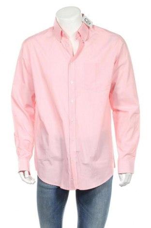 Ανδρικό πουκάμισο Rodier, Μέγεθος XL, Χρώμα Ρόζ , Βαμβάκι, Τιμή 19,02€