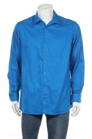Ανδρικό πουκάμισο Walbusch, Μέγεθος L, Χρώμα Μπλέ, Βαμβάκι, Τιμή 12,18€