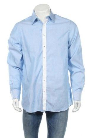 Ανδρικό πουκάμισο Walbusch, Μέγεθος L, Χρώμα Μπλέ, Βαμβάκι, Τιμή 6,17€