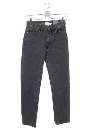 Дамски дънки Calvin Klein Jeans, Размер XS, Цвят Сив, Памук, Цена 62,30лв.