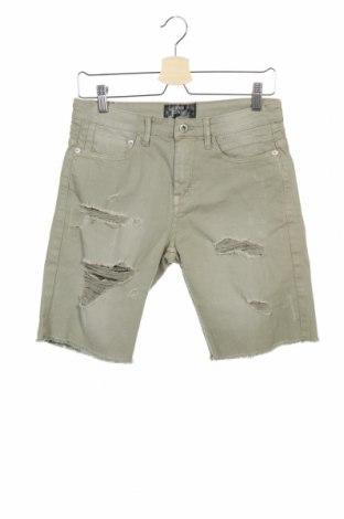 Мъжки къс панталон Lefties, Размер XS, Цвят Зелен, 98% памук, 2% еластан, Цена 18,02лв.