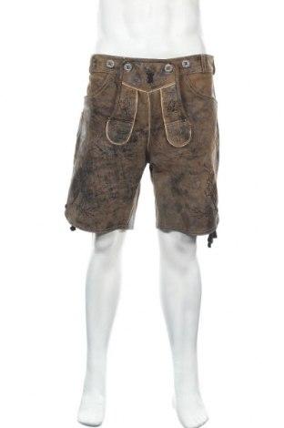 Мъжки къс панталон Paulgos, Размер L, Цвят Кафяв, Естествена кожа, Цена 43,89лв.