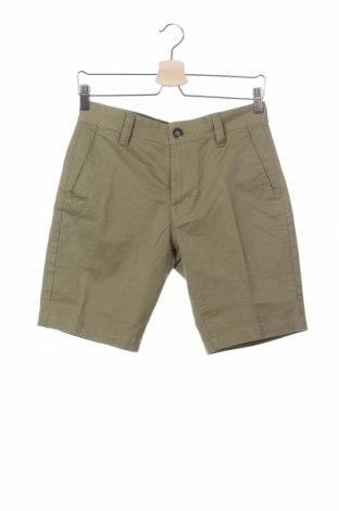 Ανδρικό κοντό παντελόνι Volcom, Μέγεθος S, Χρώμα Πράσινο, 98% βαμβάκι, 2% ελαστάνη, Τιμή 38,08€