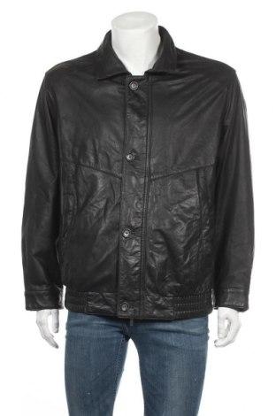 Ανδρικό δερμάτινο μπουφάν Walbusch, Μέγεθος L, Χρώμα Μαύρο, Γνήσιο δέρμα, Τιμή 41,05€