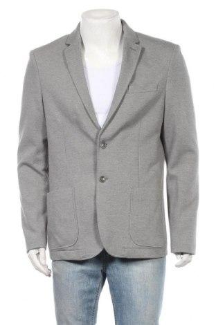 Мъжко сако 17 & Co., Размер L, Цвят Сив, 68% полиестер, 30% памук, 2% еластан, Цена 28,93лв.