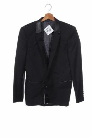 Pánské sako  Eleven Paris, Velikost S, Barva Černá, Vlna, viskóza, Eko kůže, Cena  519,00Kč