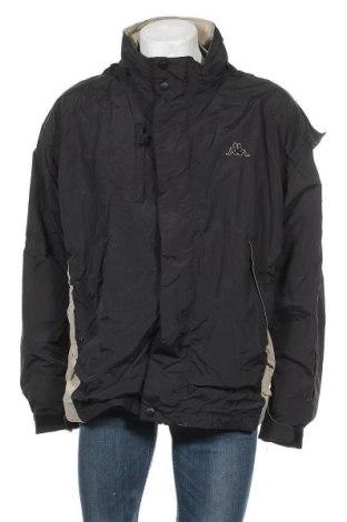 Ανδρικό αθλητικό μπουφάν Kappa, Μέγεθος XL, Χρώμα Μαύρο, Πολυαμίδη, Τιμή 16,37€