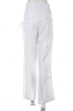 Панталон за бременни Colline, Размер XL, Цвят Бял, Лен, Цена 38,40лв.