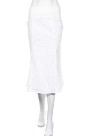 Пола Stefanel, Размер XS, Цвят Бял, 99% памук, 1% еластан, Цена 20,80лв.