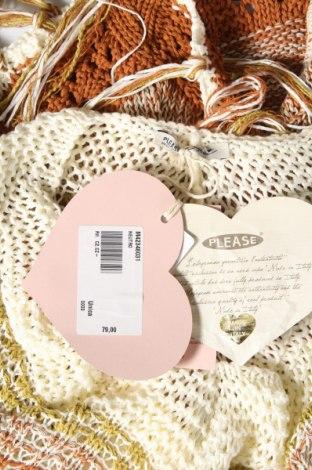 Пончо Please, Размер M, Цвят Многоцветен, 60% памук, 20% други тъкани, 20% полиестер, Цена 41,42лв.