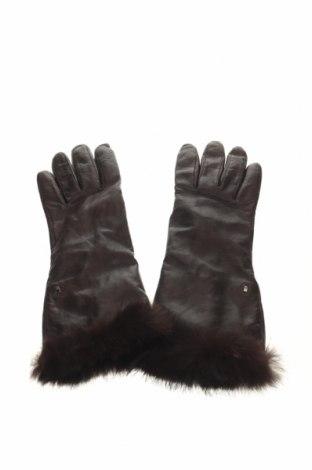Γάντια Roeckl, Χρώμα Καφέ, Γνήσιο δέρμα, φυσική τρίχα, Τιμή 31,18€