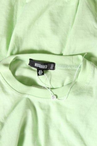 Рокля Missguided, Размер S, Цвят Зелен, 52% полиестер, 48% памук, Цена 24,00лв.