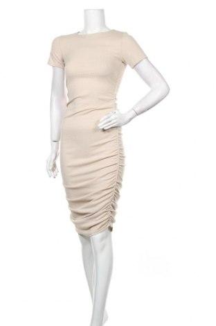 Рокля Top Fashion, Размер S, Цвят Бежов, Цена 24,30лв.