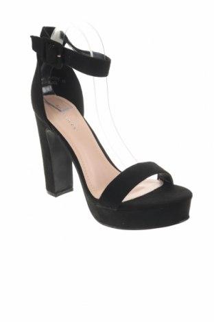Σανδάλια Ideal, Μέγεθος 41, Χρώμα Μαύρο, Κλωστοϋφαντουργικά προϊόντα, Τιμή 11,91€
