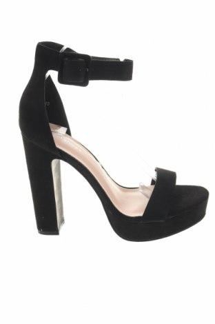 Σανδάλια Ideal, Μέγεθος 40, Χρώμα Μαύρο, Κλωστοϋφαντουργικά προϊόντα, Τιμή 11,91€