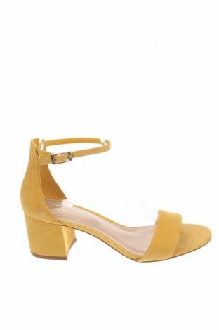 Σανδάλια Aldo, Μέγεθος 38, Χρώμα Κίτρινο, Γνήσιο δέρμα, Τιμή 43,83€