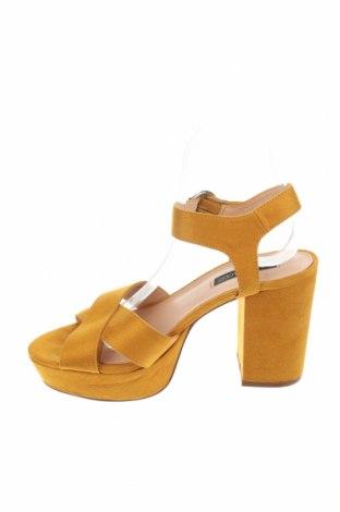 Σανδάλια Even&Odd, Μέγεθος 38, Χρώμα Κίτρινο, Κλωστοϋφαντουργικά προϊόντα, Τιμή 16,12€