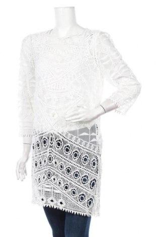 Туника, Размер M, Цвят Бял, 80% памук, 20% еластан, Цена 15,17лв.