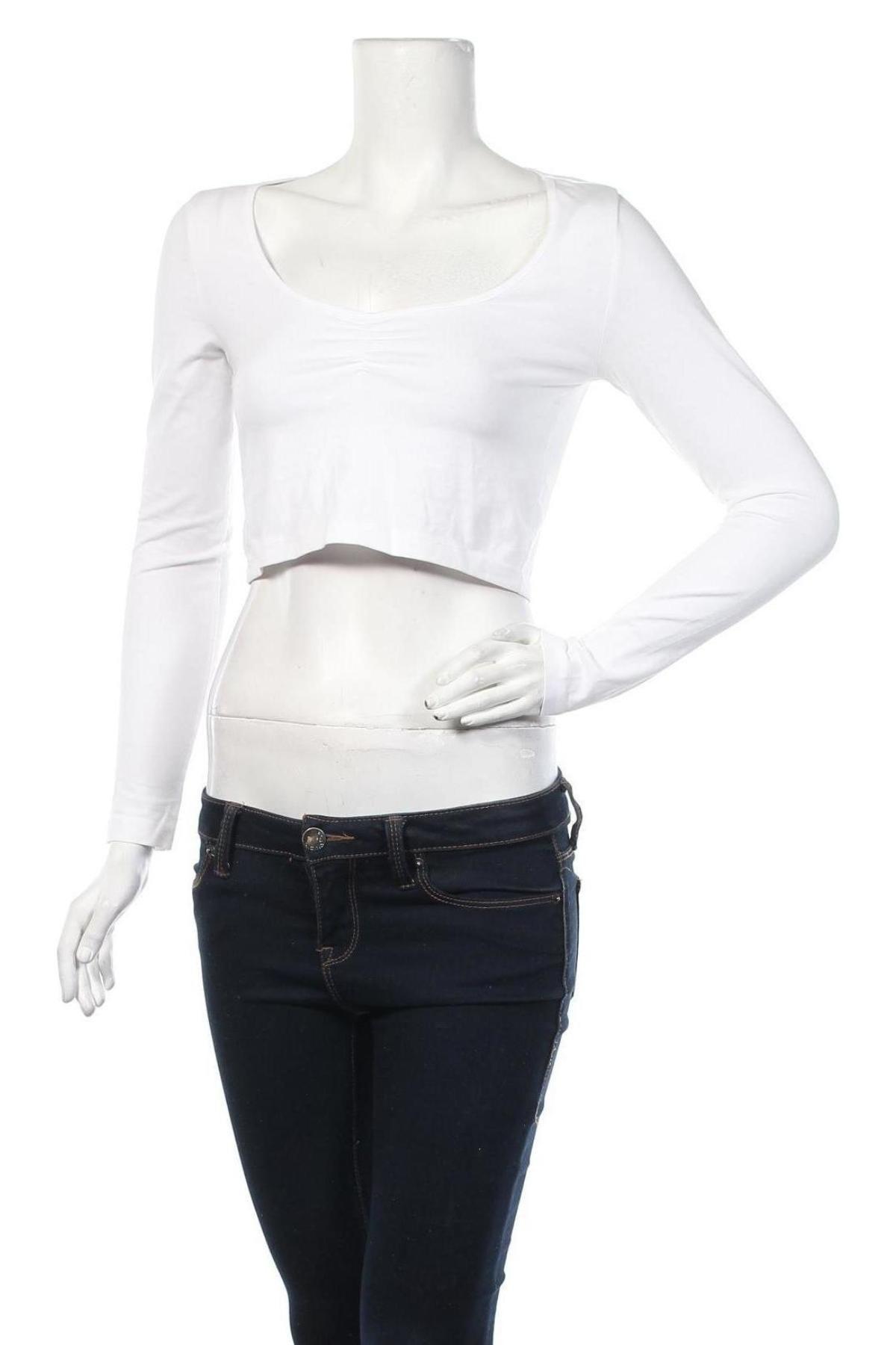 Дамска блуза Even&Odd, Размер S, Цвят Бял, 95% памук, 5% еластан, Цена 9,00лв.
