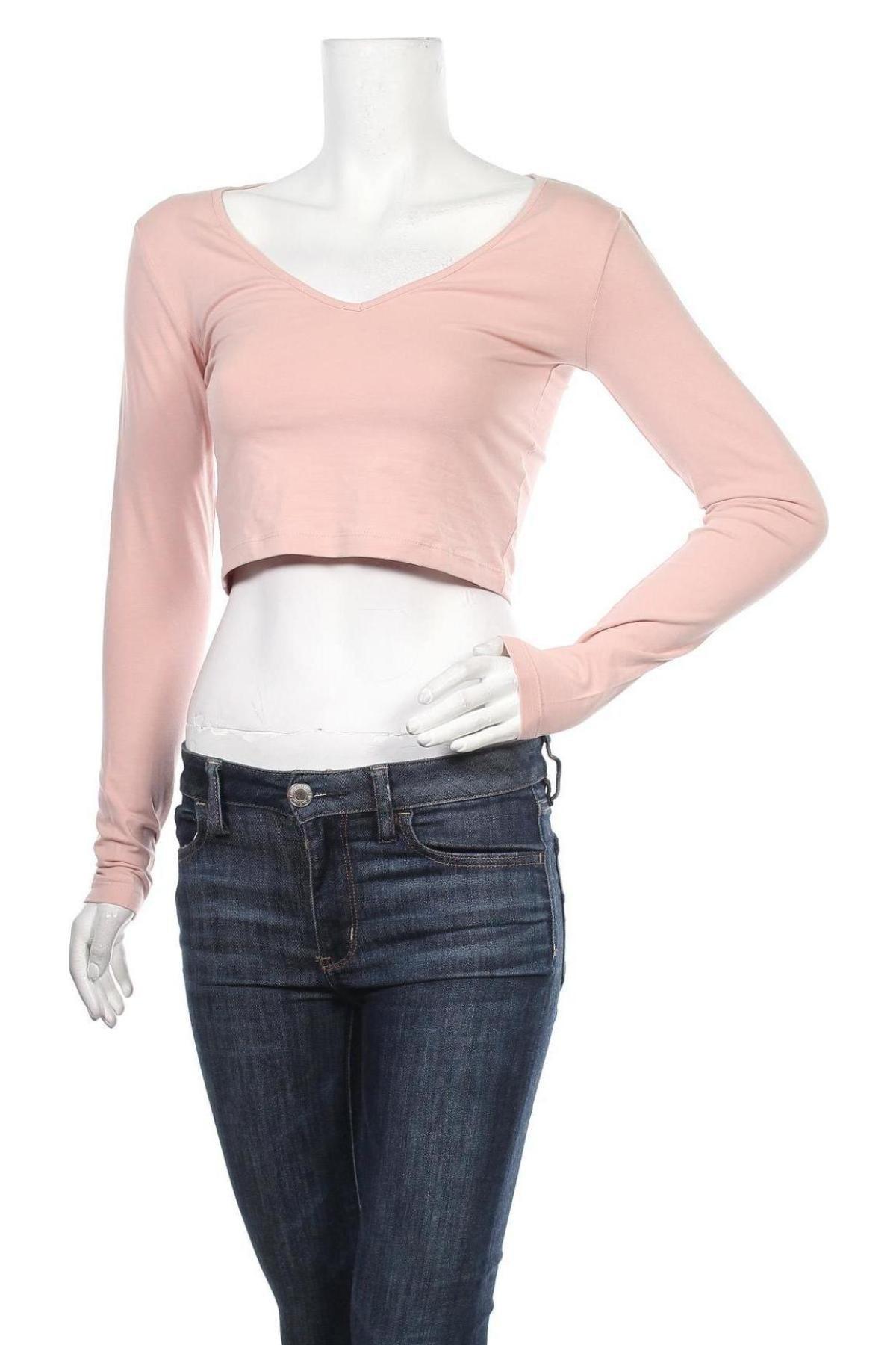Дамска блуза Even&Odd, Размер S, Цвят Розов, 95% памук, 5% еластан, Цена 28,50лв.